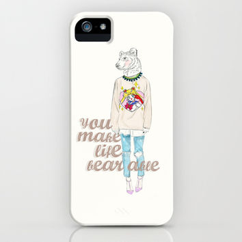 You make my life bearable iPhone & iPod Case by Sara Eshak
