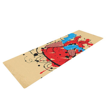 "Roberlan ""Heart"" Red Blue Yoga Mat"