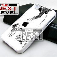 Boy And Apple Tree Black White - iPhone 4/4s/5/5s/5c Case - Samsung Galaxy S2/S3/S4 Case - Black or White