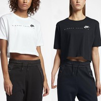 Fashion Online The Nike Sportswear Higher Than Air Cropped Women's Short Sleeve Top