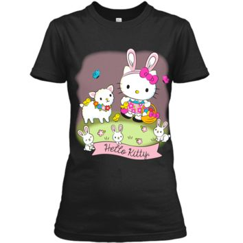 Hello Kitty and Friends Easter Scene Tee Shirt Ladies Custom