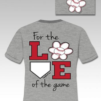 SALE Sassy Frass Funny Love of Game Baseball Sweet Girlie Bright T Shirt