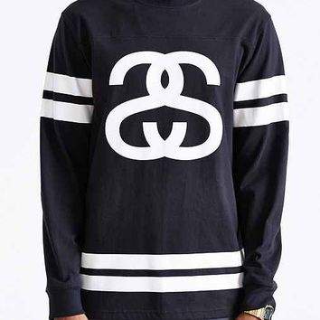 Stussy Double Stripe Football Jersey- Black