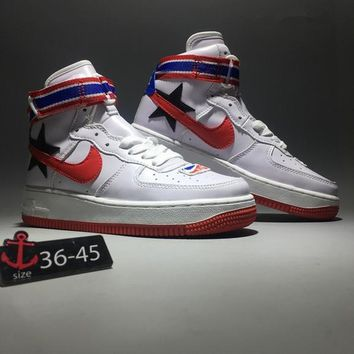 """""""Riccardo Tisci x Nike Air Force 1 RT"""" Unisex Sport Casual Fashion Pentagram High Help Plate Shoes Couple Sneakers"""