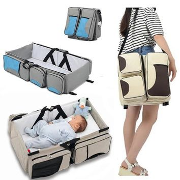 Travel Portable Bassinet large capacity Diaper Bag Multifunction Portable Changing Station Travel Crib Diaper Bag travel bed