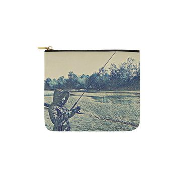 Levi Thang Fishing Design 5 Carry-All Pouch 6''x5''