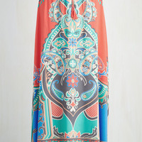 Boho Long Maxi Resort Reviewer Skirt in Sunset by ModCloth
