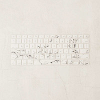White Marble Keyboard Cover | Urban Outfitters