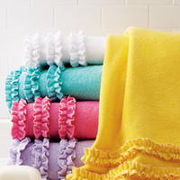 Baltic Linen Company Echo Ruffled Bath Towels