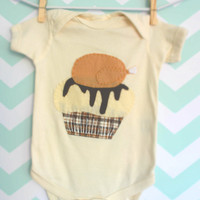 Baby's First Thanksgiving Cupcake Onesuit