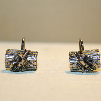 Vintage Screw Back Earrings Silver Lobster Trap Screwback Earrings Lobster Earrings Lobster Jewelry New England Maine Souvenir Jewelry