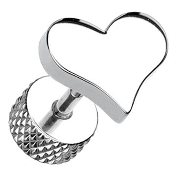 Lovely Heart 316L Surgical Steel Fake Plug