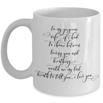 "Cute Valentines Day Gifts for Women Valentines Day Gift - Love Affirmation Mug - Anniversary Best Birthday Gift Wifey Hubby - Novelty Mugs For Valentine - Wedding Anniversary Cups For Women Men - White Ceramic 11"" Vday Jar Cup For Coffee & Cookies"
