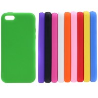 Evecase Silicone Gel Skin Cover Case Combo for Apple iPhone 5C - 10 Color Pack / Black White Blue Purple Red Hot Pink Light Pink Green Orange Yellow (AT&T, Verizon, Sprint, T-Mobile and All Versions Compatible)