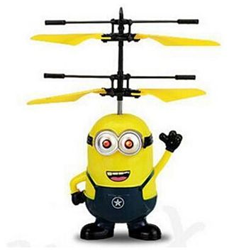 MJDTOYS X66 Top Sale ! Very Funny Induction Flying Toys Upgrade RC Despicable Me Minion Helicopter Quadcopter Drone Plane Toys