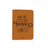 Travel Quote [Name Customized] Leather Passport Holder /Passport Cover/Passport Wallet_SUPERTRAMPshop