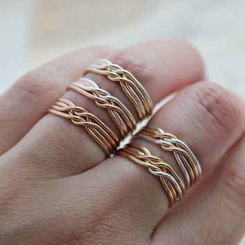 Multi-Metal Puzzle Rings