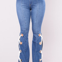 Ring My Bell Bottom Jeans - Medium