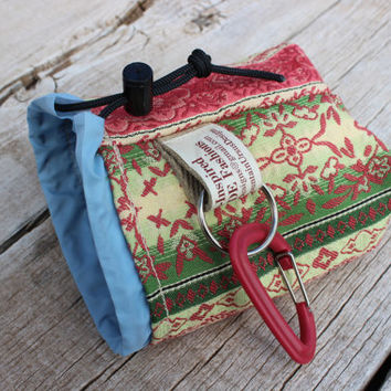 Dog Treat Training Pouch Bag with Carabiner, Puppy Treat Training Bag, Dog Walks Hikes, Animal Lover Gift, Draw String Pouch, Dog Cookies