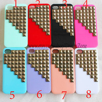 Studded iPhone 5 Case, iPhone 5 Case, Studded Iphone Cases, iPhone Case 5, antique Bronze pyramid stud , Hard Case Cover