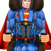 Kids Superman Combination Harness Booster Car Seat With Cape