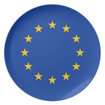 European Union Flag Plate