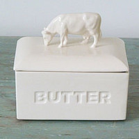 cow ceramic butterdish by sorbet living | notonthehighstreet.com
