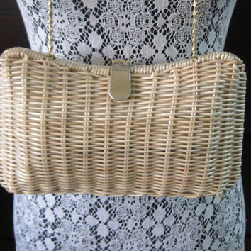 25% Off Discount-Code BUYME25 Vintage Handbag Purse Accessory Woven Handbag Tagged MAGID Made In Hong Kong Classic Timeless