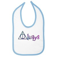 Always Deathly Hallows Galaxy Infant Bib - White