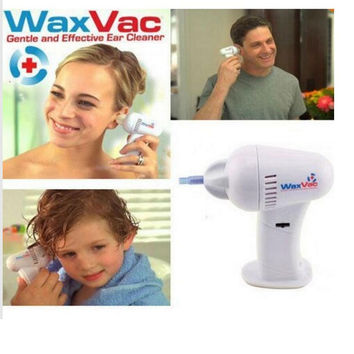 Electric waxvac ear cleaner vacuum removal kit