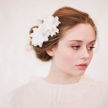 Silk blossom hair bobby pins, pair, bridal - Style 126 - Ready to Ship - Best Seller