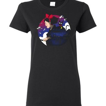 A Young Witches Journey Ladies T-Shirt