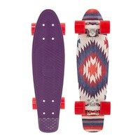 "Penny 22"" Holiday Aztec Purple/White/Red Mini Longboard Complete"