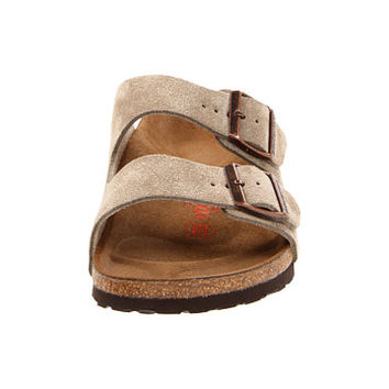 Birkenstock Arizona High Arch (Unisex) Taupe Suede High Arch - 6pm.com
