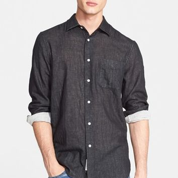 Men's rag & bone 'Beach' Trim Fit Double Face Sport Shirt,