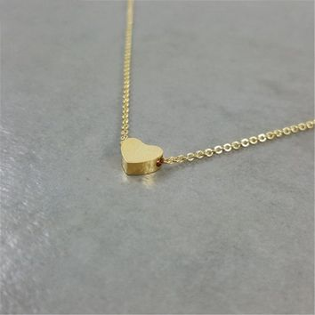 Stainless Steel Rose Gold Heart Necklaces For Women Love Jewelry Long Chain Couple Necklaces Collier Femme BFF Christmas Gifts