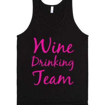 Wine Drinking Team | Tank Top | SKREENED