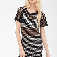 Fishnet T-Shirt Dress