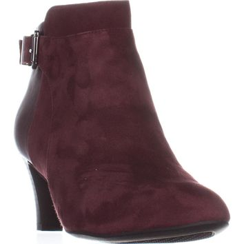 A35 Viollet Ankle Booties, Mulberry Suede, 8 US