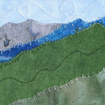 Fabric postcard beach quilted postcard from sewupscale on etsy fabric postcard quilted postcard landscape fiber art mountains greeting card wall decor nature m4hsunfo