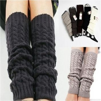 Winter Leg Warmers for Women Fashion Gaiters Boot Cuffs Woman Thigh High Warm  Black Christmas Gifts Knit Knitted Knee Socks