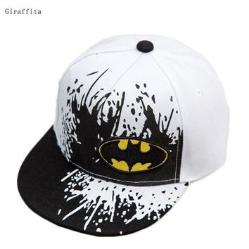 Trendy Winter Jacket 2017 New Snapback Caps Gorras Unisex Kids  Snapback Batman Cap Children Adjustable Flat Hats AT_92_12