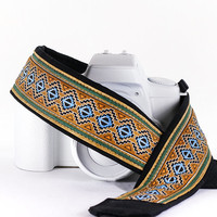 dSLR Camera Strap, Southwestern Tribal, SLR, Photographer gift, Canon camera strap, Nikon Camera Strap, Mirrorless,  227 w