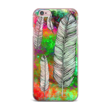 "Suzanne Carter ""Feather"" Rainbow Space iPhone Case"
