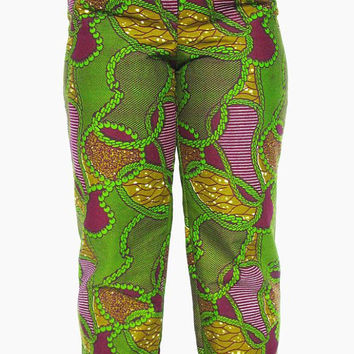 Ankara Pants - African Clothes - African Print Pants -  Size: Large