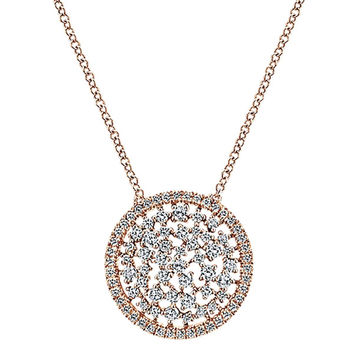 "Gabriel 14K Rose & White Gold Diamond ""Cirque"" Pave Pendant"