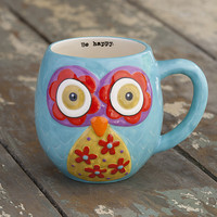 Teal Owl Coffee Mug by Natural Life