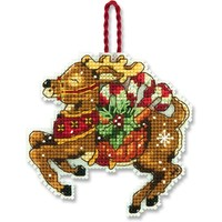 REINDEER ORNAMENT - Counted Cross Stitch Kit