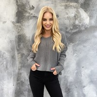 By The Fire Grey Knit Sweater