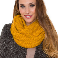 Windsor Infinity Scarf - Mustard - One Size / Mustard